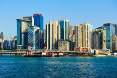 The Victoria Harbour scenic Stock Images