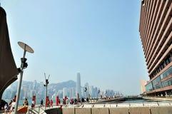 Victoria Harbour van het centrum ¼ Œfinancial van Hongkong ï Stock Foto's