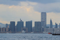 Victoria Harbour view of kowloon side Stock Images