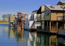 Victoria House Boats Stock Image