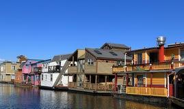 Victoria Inner Harbour, Fischer Wharf Britisch-Columbia, Kanada lizenzfreie stockbilder