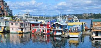 Victoria Inner Harbour, Fisherman Wharf Royalty Free Stock Photos