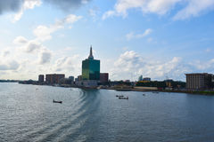 Victoria Island, Lagos, Nigeria. Beautiful morning in Lagos, Nigeria royalty free stock photos