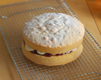 Victoria Jam and Cream Sponge Stock Photos