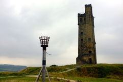 VICTORIA JUBILEE TOWER,CASTLE HILL. NHUDDERSFIELD royalty free stock photography