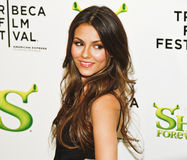 Victoria Justice. NEW YORK - APRIL 21: Actress, Singer Victoria Justice attends the premiere of Shrek Forever After at the 2010 Tribeca Film Festival at the royalty free stock image