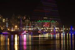 Victoria Kanada-DECEMBER 3, 2011: Victoria stad som är i stadens centrum under Fotografering för Bildbyråer