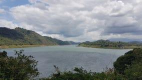 Victoria lake in sri lanka. Most beautiful & valuable historical lake in sri lanaka, there locating in Teldeniya stock images