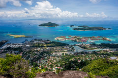 Victoria - Mahe - Seychelles. A view from Mahe Seychelles main island Royalty Free Stock Photography