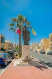 Victoria Malta - Maj 8, 2017: Monumentet till påven John Paul II på den Gozo ön i Malta Royaltyfri Fotografi