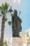 Victoria, Malta - May 8, 2017: The monument to Pope John Paul II at Gozo island in Malta. The monument to Pope John Paul II at Gozo island in Malta Royalty Free Stock Photography