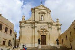 The church at Victoria on Gozo island, Malta Stock Photos