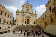 The church at Victoria on Gozo island, Malta Royalty Free Stock Photo