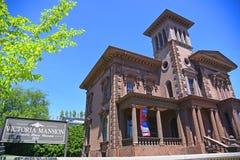 Victoria Mansion em Portland, MIM, EUA fotografia de stock royalty free