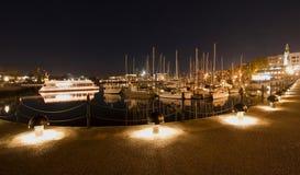 Victoria marina at night Royalty Free Stock Photos