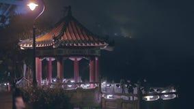 Victoria maximumsynvinkel på natten stock video