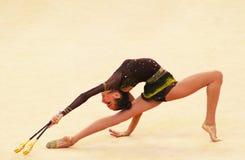 Victoria Mazur (Ukraine) führt am Deriugina Cup durch lizenzfreie stockbilder