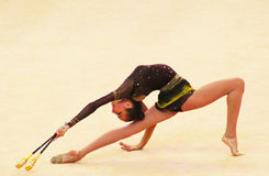 Victoria Mazur (Ukraine) performs at Deriugina Cup royalty free stock images