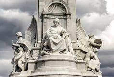 Victoria Memorial - ängel av välgörenhet arkivbilder