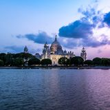 Victoria Memorial av Kolkata royaltyfri fotografi