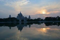 Victoria Memorial av Kolkata, västra Bengal, Indien arkivfoto