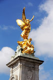 Victoria Memorial golden statue Stock Photos