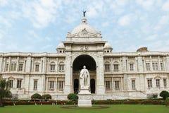Victoria Memorial gränsmärke i Kolkata, Indien fotografering för bildbyråer