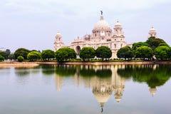 Victoria Memorial Hall in Kalkutta, Indien stockbild