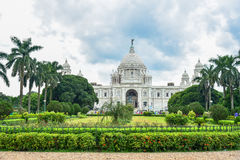 Victoria Memorial Hall on a Murky Day. In Kolkata, India Royalty Free Stock Image
