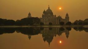 Victoria Memorial i aftonen, Kolkata, Indien tidschackningsperiod lager videofilmer