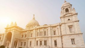 Victoria Memorial i Indien arkivfilmer