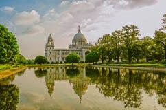 Victoria Memorial i Indien arkivbild