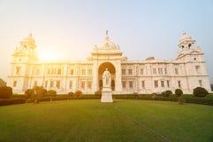 Victoria Memorial i Indien arkivfoto