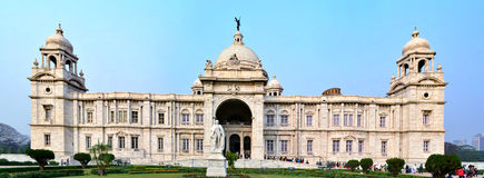 Victoria Memorial. On January 6, 2013 in Kolkata ,India. This marble building was built between 1906 and 1921, dedicated to the memory of Queen Victoria royalty free stock photo
