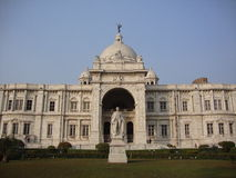 Victoria Memorial at Kolkata. The famous memorial monument constructed in memory of the Late Queen Victoria, during the time of the British rule in India Stock Images