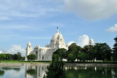 Victoria Memorial in Kolkata. Stock Afbeeldingen