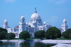 Victoria Memorial, Kolkata (Calcutta), India. The full view of Victoria Memorial, Kolkata (Calcutta), India, in a bright and sunny day royalty free stock photos