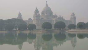 Victoria Memorial Kolkata, Calcutta, västra Bengal, Indien arkivfilmer