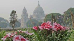 Victoria Memorial Kolkata, Calcutta, västra Bengal, Indien lager videofilmer