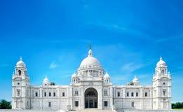 Victoria Memorial Kolkata forntida arkitektur royaltyfri fotografi