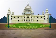 Victoria Memorial Kolkata India Illustration lizenzfreie stockfotos