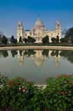 Victoria Memorial, Kolkata , India - reflection on water. A Historical Monument of Indian Architecture. It was built between 1906 and 1921 to commemorate Queen Royalty Free Stock Photo
