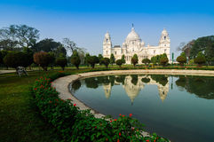 Victoria Memorial, Kolkata , India - reflection on water. A Historical Monument of Indian Architecture. It was built between 1906 and 1921 to commemorate Queen Stock Images