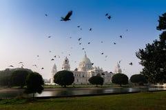 Victoria Memorial Kolkata, Indien - historisk monument. fotografering för bildbyråer