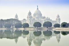 Victoria Memorial Kolkata, Indien - historisk monument royaltyfria foton