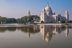Victoria Memorial and reflection, India Stock Photos