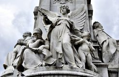 Victoria Memorial, London. The Victoria Memorial is a monument to Queen Victoria, located at the end of The Mall in London, and designed and executed by the Royalty Free Stock Photos
