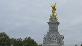 The Victoria Memorial in London stock video footage