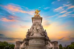 Victoria Memorial at the Mall Road in front of Buckingham Palace. London Stock Images