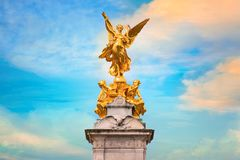 Victoria Memorial at the Mall Road in front of Buckingham Palace, London. UK Royalty Free Stock Photo